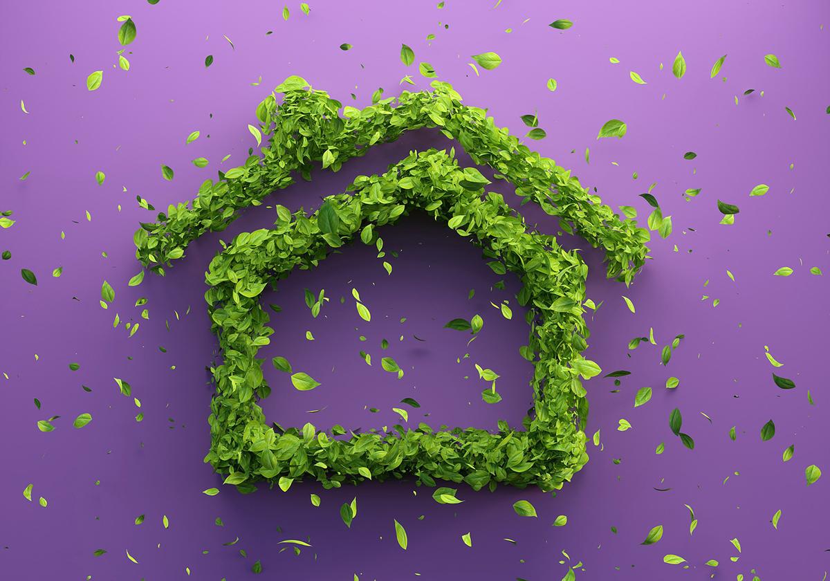 Casa sostenible que respeta el medio ambiente