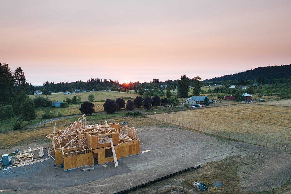 Casa pasiva sobre terreno bioconstrucción